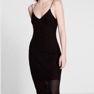 Express Sheer Ribbed Midi Slip Dress